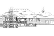 House Plan Design - European Exterior - Rear Elevation Plan #5-251