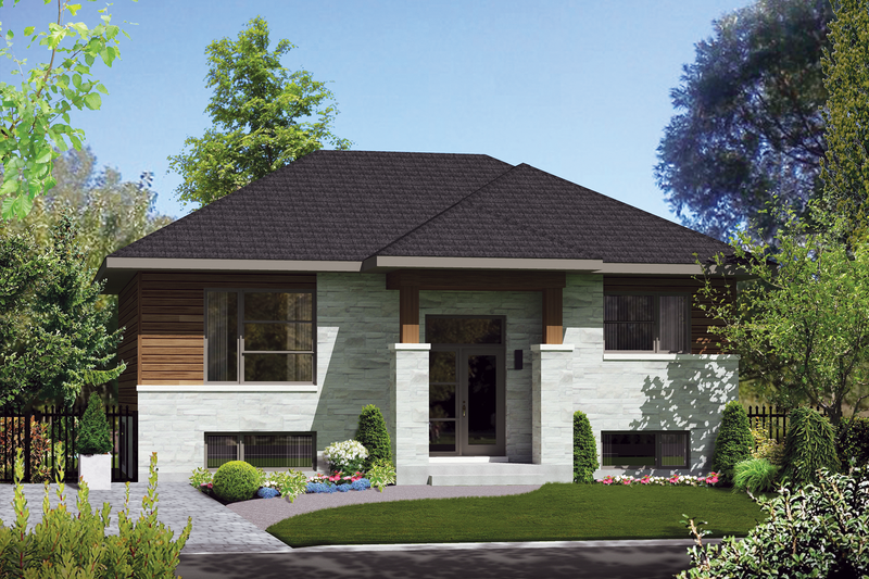 House Plan - 2 Beds 1 Baths 1014 Sq/Ft Plan #25-4269 Exterior - Front Elevation