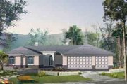 House Plan - 4 Beds 2.5 Baths 2678 Sq/Ft Plan #1-1185 Exterior - Front Elevation