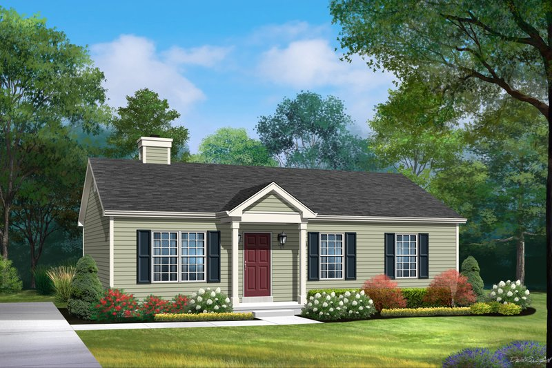 House Plan Design - Ranch Exterior - Front Elevation Plan #22-586