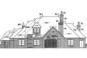 European Style House Plan - 3 Beds 3.5 Baths 2557 Sq/Ft Plan #310-962 Exterior - Rear Elevation