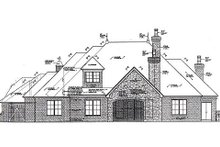 House Plan Design - European Exterior - Rear Elevation Plan #310-962