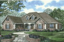 Dream House Plan - Traditional home design front elevation