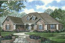 House Plan Design - Traditional home design front elevation