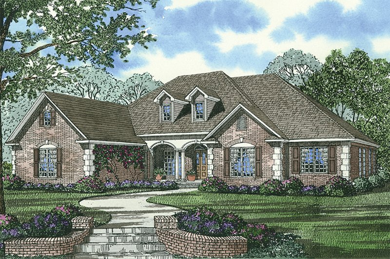 Traditional home design front elevation