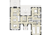 Farmhouse Style House Plan - 3 Beds 2.5 Baths 2736 Sq/Ft Plan #924-5 Floor Plan - Main Floor Plan
