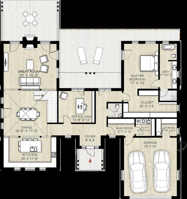 Farmhouse Floor Plan - Main Floor Plan #924-5