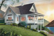 Southern Style House Plan - 2 Beds 2 Baths 1480 Sq/Ft Plan #23-2038 Exterior - Rear Elevation