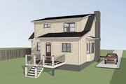 Bungalow Style House Plan - 3 Beds 2.5 Baths 1568 Sq/Ft Plan #79-314 Exterior - Other Elevation