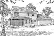 Country Style House Plan - 4 Beds 3 Baths 2269 Sq/Ft Plan #312-154 Exterior - Rear Elevation