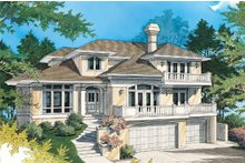 Dream House Plan - Mediterranean style home, front elevation