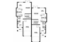 Contemporary Floor Plan - Main Floor Plan Plan #126-201