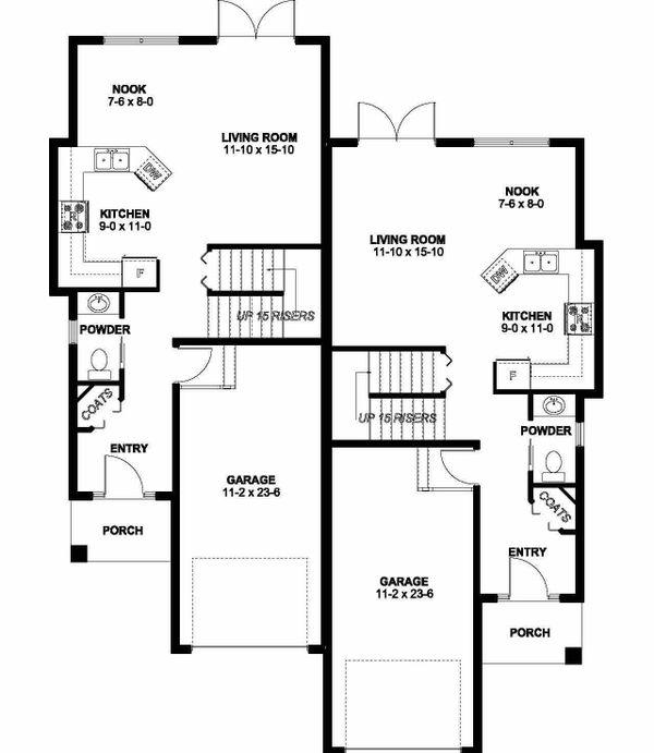Contemporary Floor Plan - Main Floor Plan #126-201