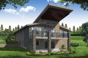 Contemporary Style House Plan - 4 Beds 3 Baths 2928 Sq/Ft Plan #124-1116 Exterior - Rear Elevation