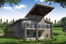 Architectural House Design - Contemporary Exterior - Rear Elevation Plan #124-1116