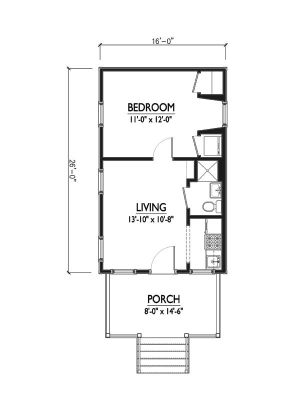 charming cottage floor plan by Marainne Cusato Houseplans Plan no. 514-2