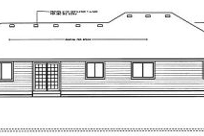 Traditional Exterior - Rear Elevation Plan #91-101 - Houseplans.com