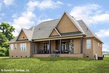 Home Plan - European Exterior - Rear Elevation Plan #929-957