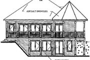 Cottage Style House Plan - 3 Beds 2 Baths 1992 Sq/Ft Plan #23-421 Exterior - Rear Elevation
