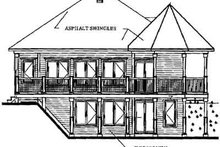 Cottage Exterior - Rear Elevation Plan #23-421