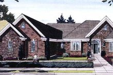 Dream House Plan - European Exterior - Front Elevation Plan #46-403