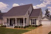 Cottage Style House Plan - 3 Beds 3 Baths 1880 Sq/Ft Plan #37-119 Exterior - Front Elevation