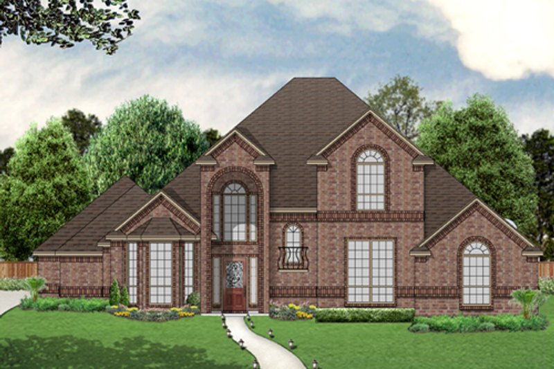Dream House Plan - Traditional Exterior - Front Elevation Plan #84-556