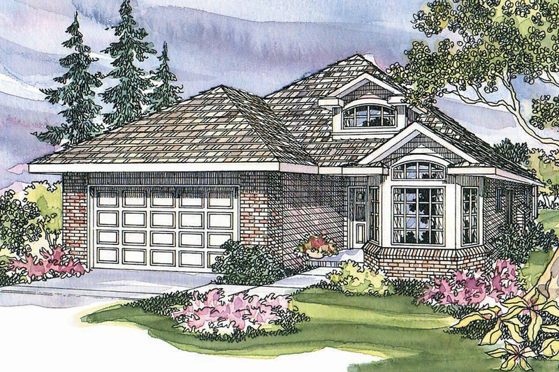 Home Plan - Traditional Exterior - Front Elevation Plan #124-335