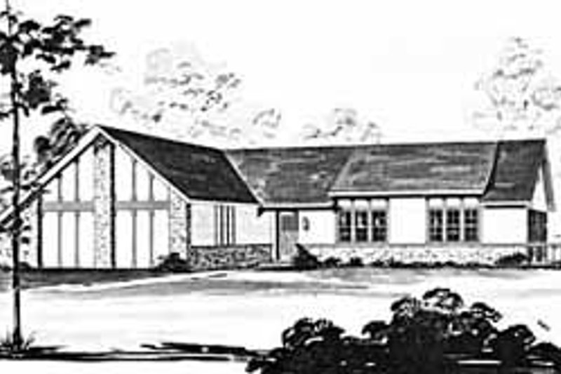 Dream House Plan - Ranch Exterior - Front Elevation Plan #36-377