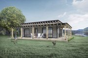 Cabin Style House Plan - 1 Beds 1 Baths 440 Sq/Ft Plan #924-7 Exterior - Rear Elevation