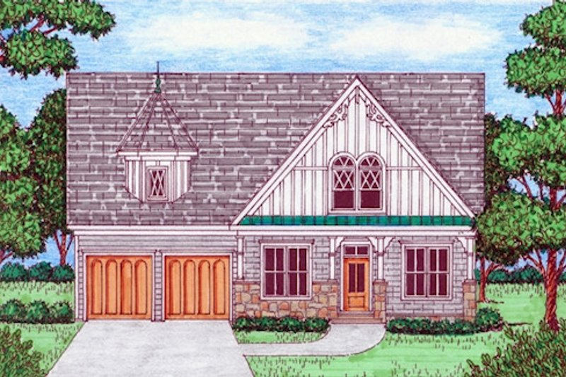 Victorian Exterior - Front Elevation Plan #413-882