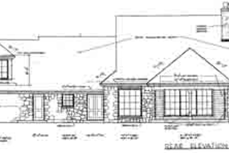 Country Exterior - Rear Elevation Plan #310-240 - Houseplans.com
