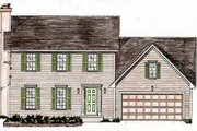 Colonial Style House Plan - 4 Beds 2.5 Baths 1575 Sq/Ft Plan #405-139 Exterior - Front Elevation