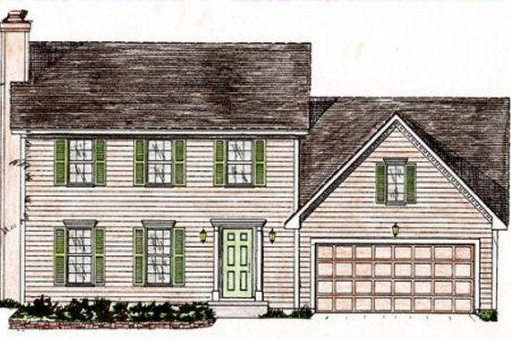 Colonial Exterior - Front Elevation Plan #405-139