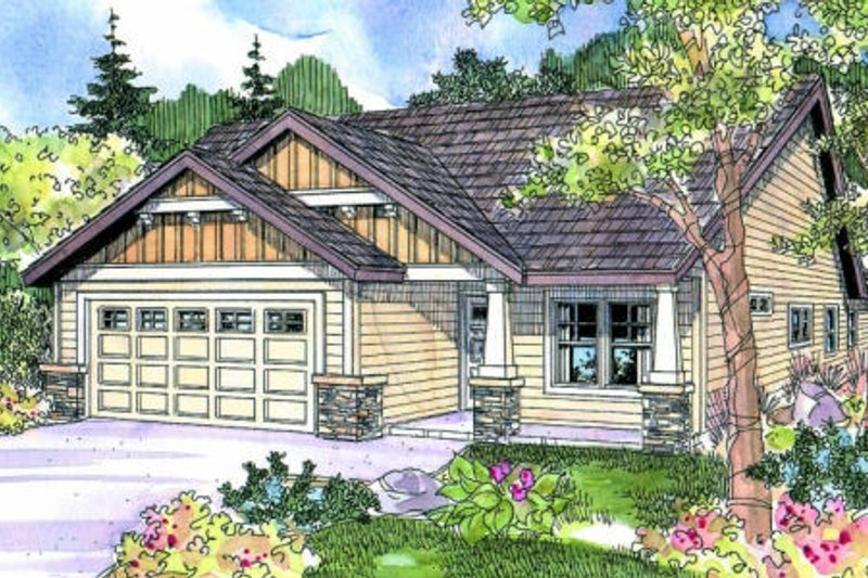 Craftsman Exterior - Front Elevation Plan #124-693 - Houseplans.com
