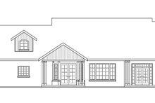Craftsman Exterior - Rear Elevation Plan #124-423
