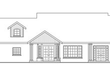 Home Plan - Craftsman Exterior - Rear Elevation Plan #124-423