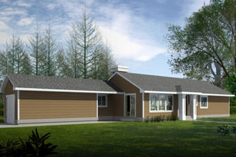 Dream House Plan - Ranch Exterior - Front Elevation Plan #100-450
