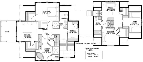 Country Floor Plan - Upper Floor Plan Plan #928-297