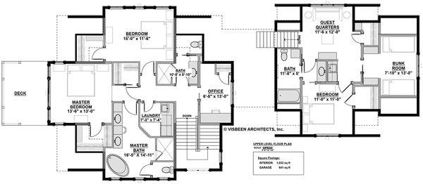 Architectural House Design - Country Floor Plan - Upper Floor Plan #928-297