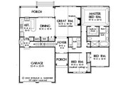 European Style House Plan - 3 Beds 2 Baths 1676 Sq/Ft Plan #929-53 Floor Plan - Other Floor Plan