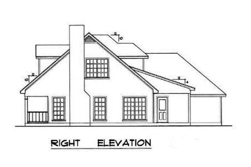 Farmhouse Exterior - Other Elevation Plan #40-163 - Houseplans.com