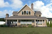 Craftsman Style House Plan - 4 Beds 3 Baths 2984 Sq/Ft Plan #1070-59 Exterior - Rear Elevation