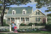 Country Style House Plan - 3 Beds 2.5 Baths 1824 Sq/Ft Plan #137-294 Exterior - Front Elevation
