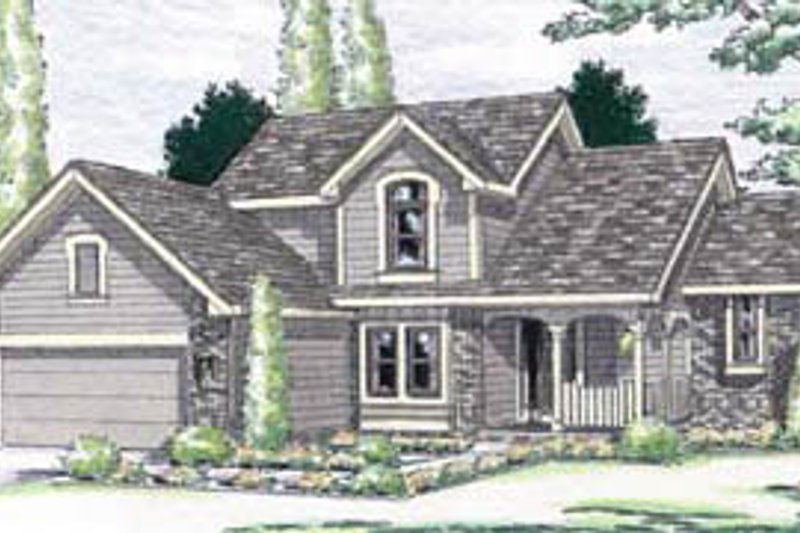 Traditional Exterior - Front Elevation Plan #20-268 - Houseplans.com