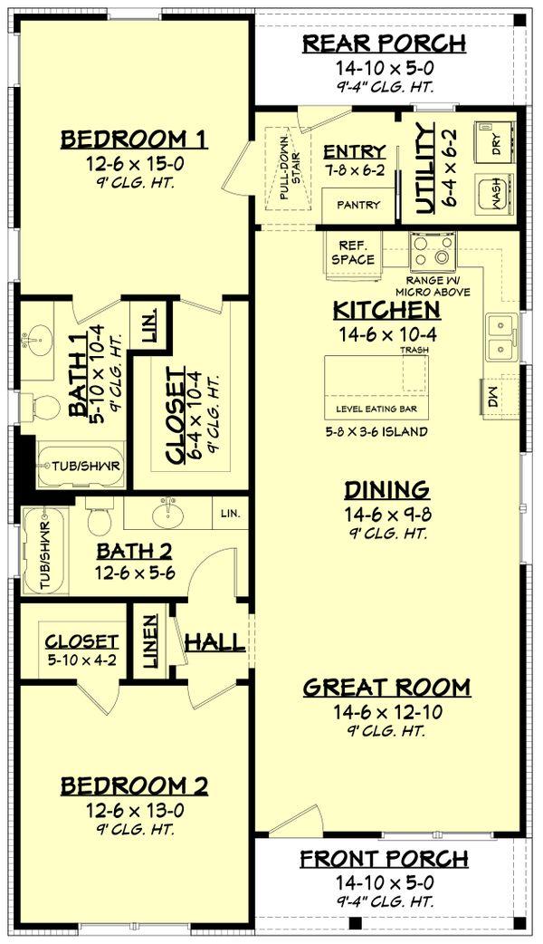 Farmhouse Floor Plan - Main Floor Plan #430-254