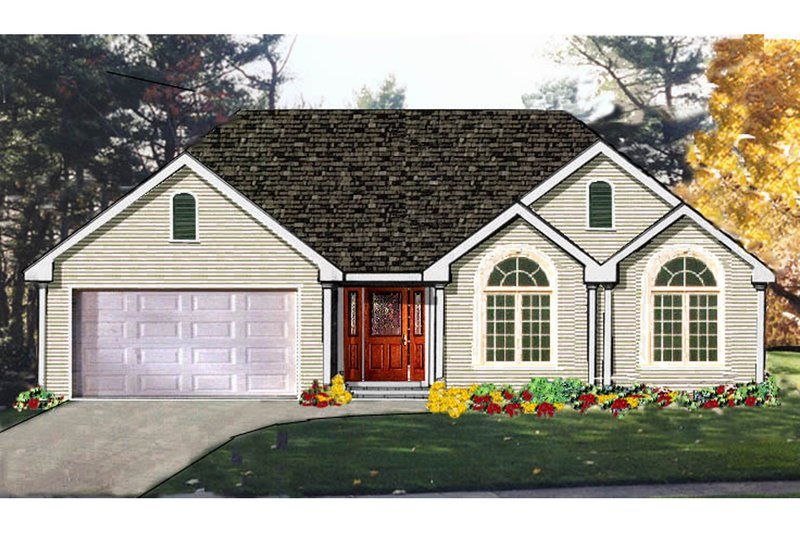 Architectural House Design - Traditional Exterior - Front Elevation Plan #3-136