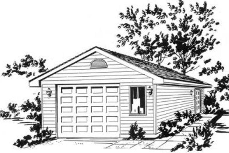 Traditional Exterior - Front Elevation Plan #18-9275
