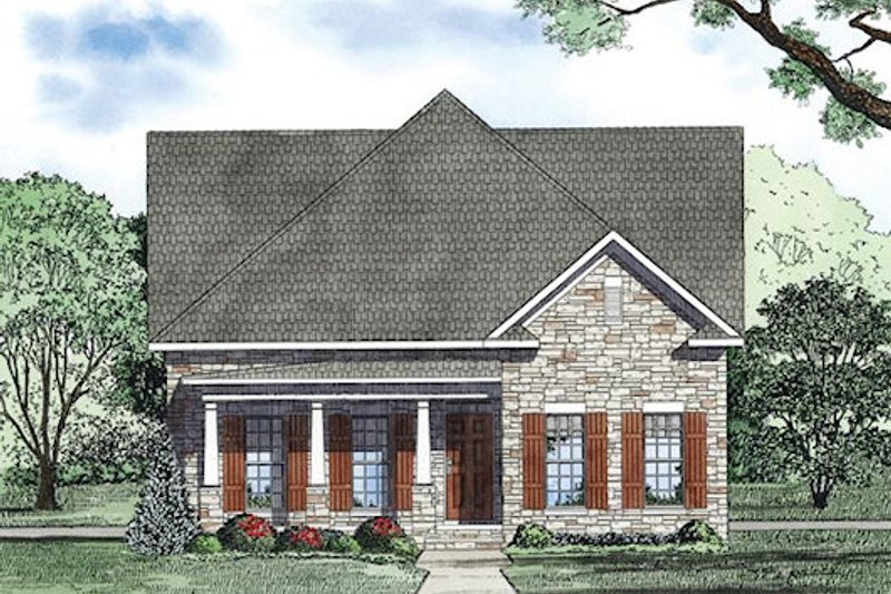 Farmhouse Exterior - Other Elevation Plan #17-2425 - Houseplans.com