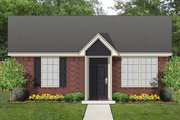 Cottage Style House Plan - 1 Beds 1 Baths 559 Sq/Ft Plan #84-535 Exterior - Front Elevation